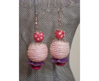 Boucles Nature roses