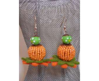 Boucles Nature oranges