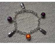 Bracelet Orange/Violet & Poupées Russes